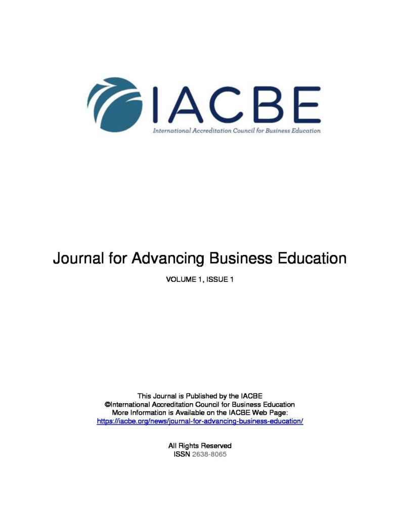 Journal for Advancing Business Education