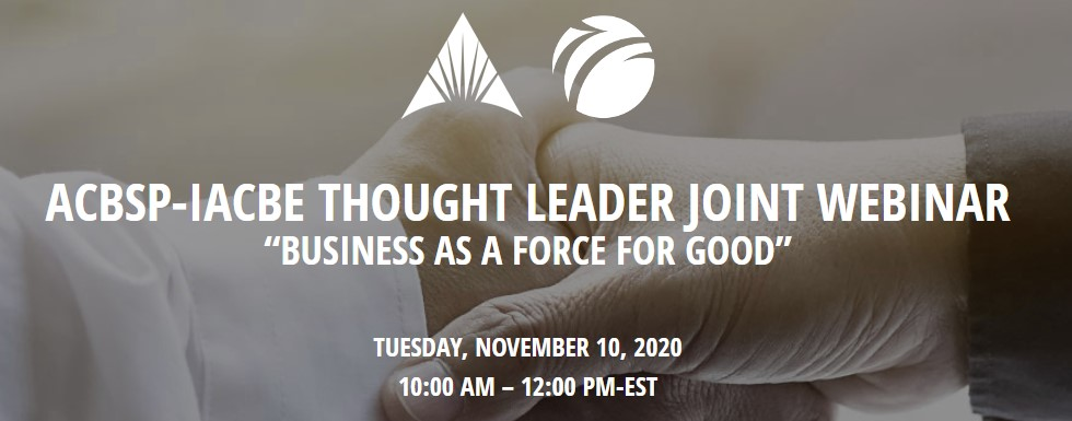 Thought Leader Joint Webinar Nov. 10